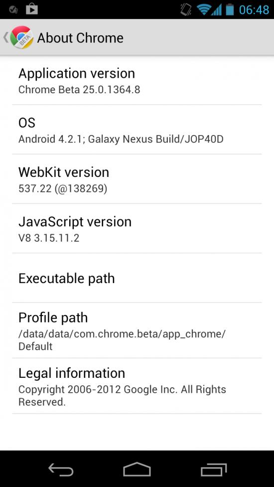 Chrome手机浏览器Android版新增Beta分支