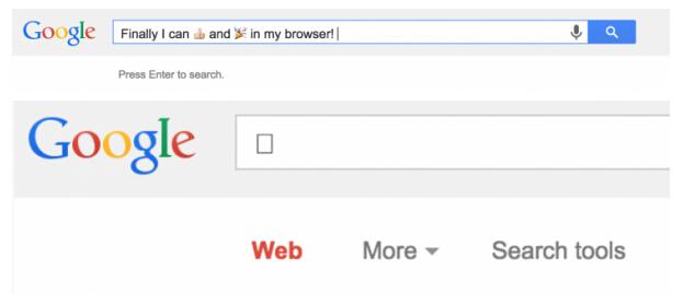 OS X版Chrome 浏览器即将支持Emoji表情符号