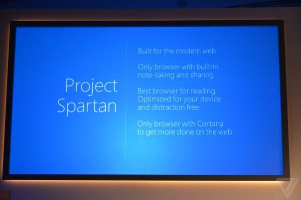 微软Spartan浏览器面世:全新界面、内核 内置阅读模式