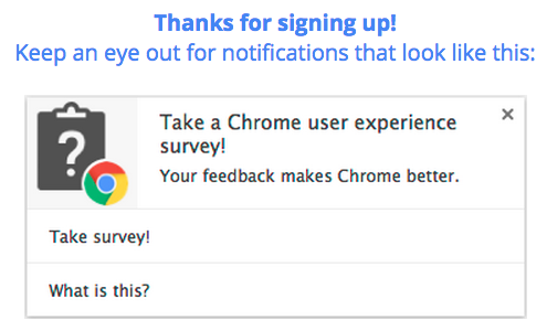 Chrome 浏览器首次推出用户体验调查扩展程序